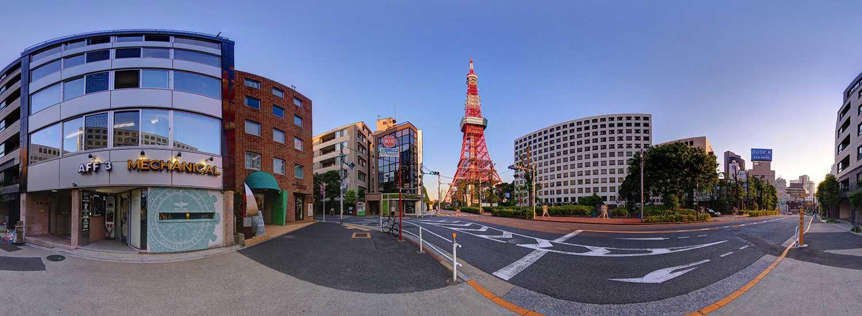 Tokyo Virtual Tour:Tokyo Tower,Tokyo Skytree